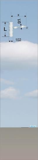 Výložník pro stožáry silniční a sadové JBS,SB - typu SV
