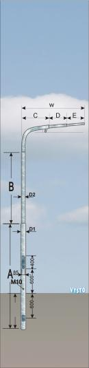 Stožár pro zdvojený semafor 200